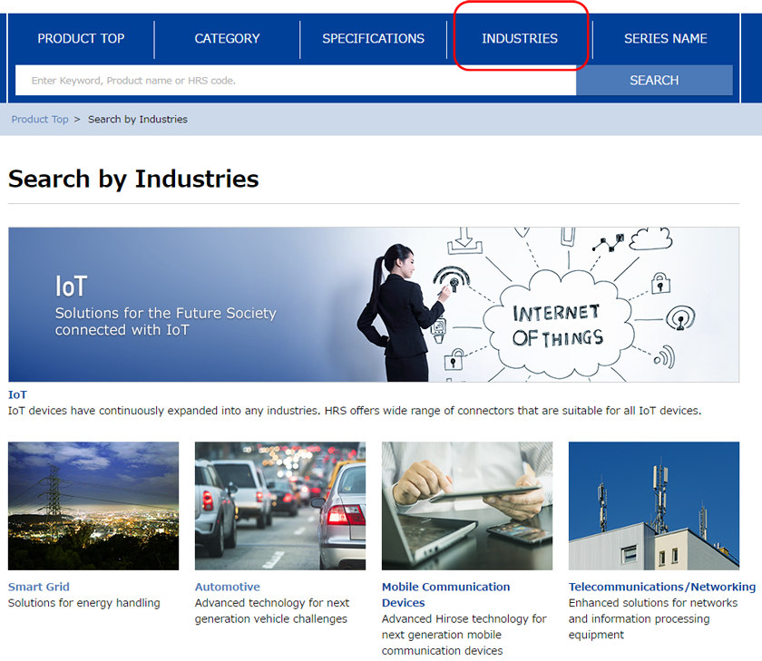 Search by Industries top